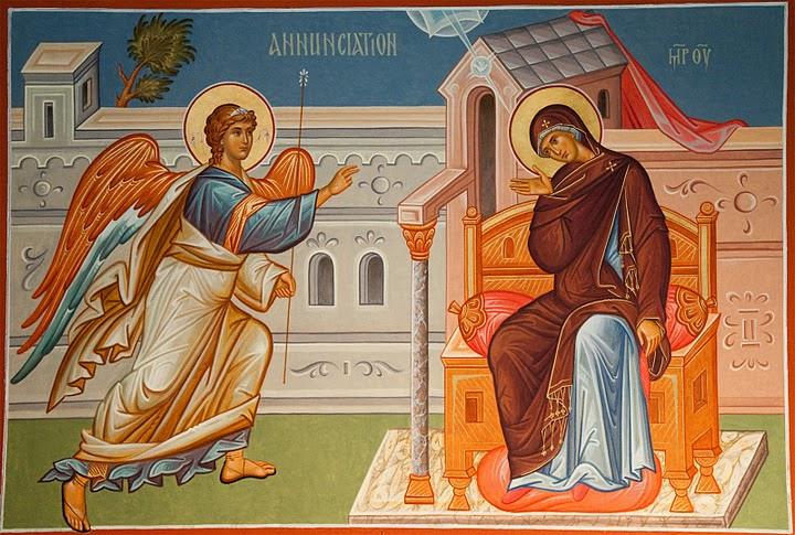7 квітня – свято Благовіщення Пресвятої Богородиці. Розпорядок Святих Літургій.