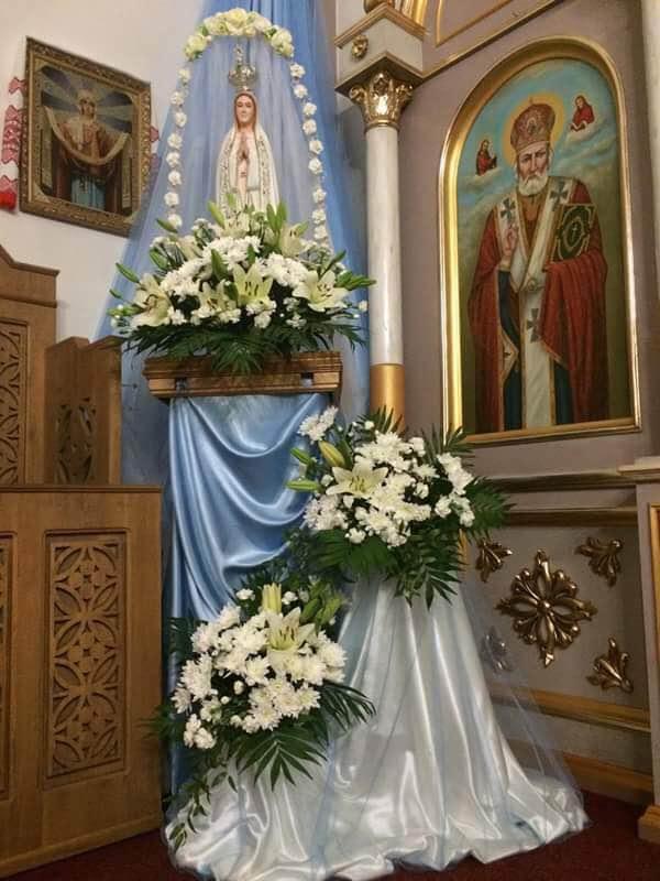 Сьогодні ми розпочали молитися молебні до Божої Матері –  Маївки