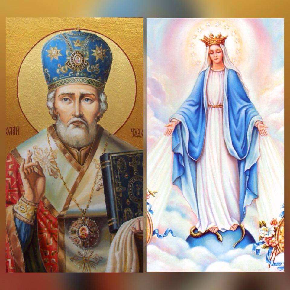 19 грудня – св.Миколая; 22 грудня – Непорочне Зачаття Пресвятої Богородиці (Розпорядки Літургій)